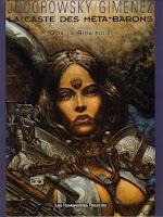 Portada de la novela gráfica La casta de los metabarones, en la que se muestra a Oda con armadura blanca.