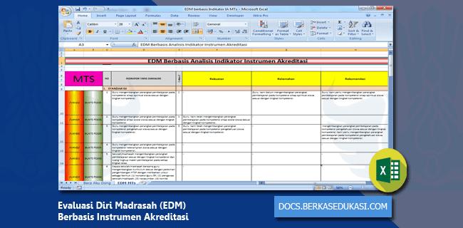 Evaluasi Diri Madrasah (EDM) Berbasis Instrumen Akreditasi