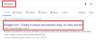 Search google Blogger