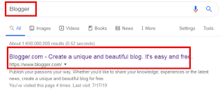 Search google Blogger