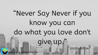 Best Quotes on Life Lessons - Never say never
