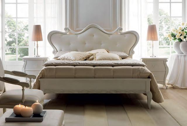 Paturi dormitor clasice productie Italia | Mobila dormitor clasica alba