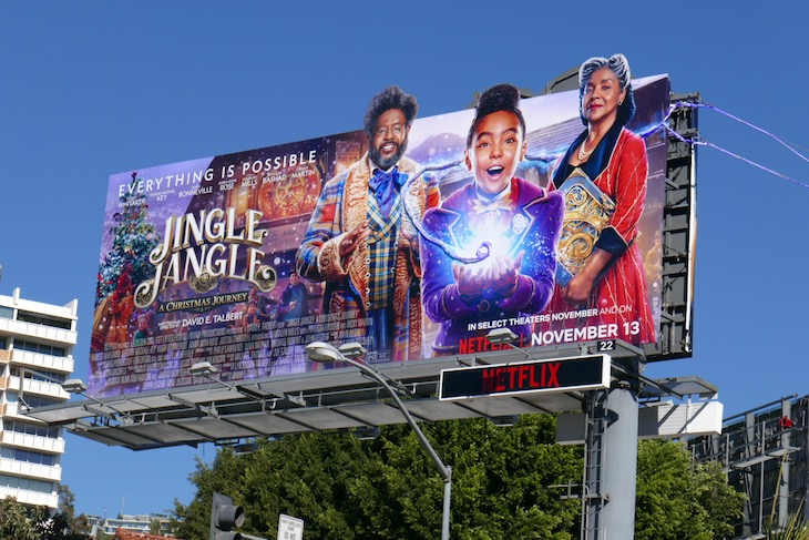 Jingle Jangle Christmas Journey film billboard