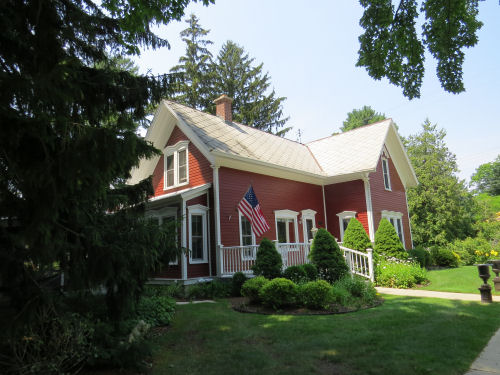 red Pentwater cottage