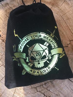 Jesse's custom DND Dice Bag