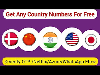 Get Free Number of Any Country For Otp (Free)