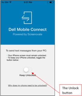Dell Mobile Connect Toggle unlock
