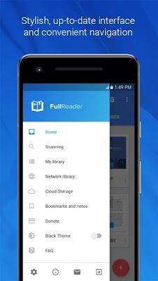 تحميل تطبيق قارئ الكتب الاحترافي FullReader