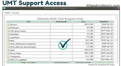 UMT Support Access Image