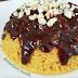 Receita saudável e prática de bolo de cenoura de micro-ondas
