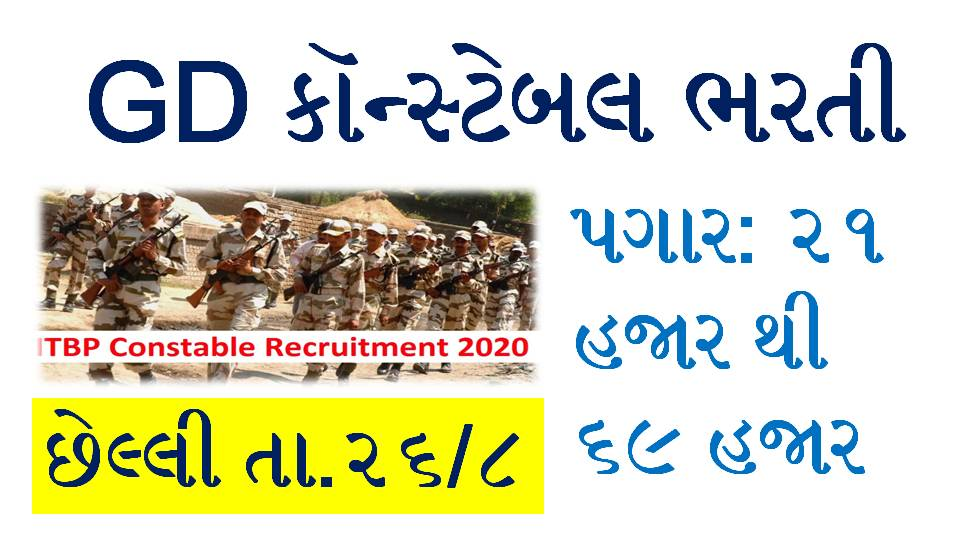 ITBP Recruitment 2020: Apply Online For 51 GD Constable Posts