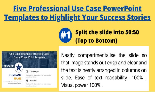 Five-professional-use-case-powerpoint-templates-to-highlight-your-success-stories #infographic
