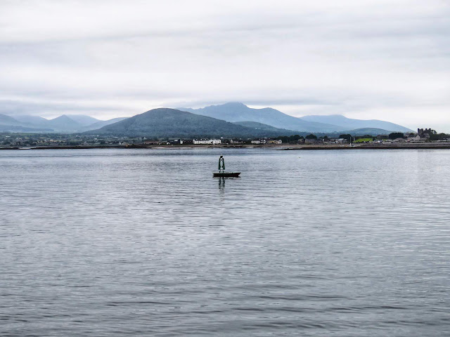 View of the Mourne Mountains in Northern Ireland from Carlingford Ferry
