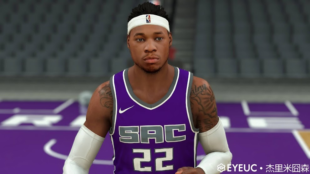 Richaun Holmes Cyberface, Hair and Body Model By White 55 Chocolate [FOR 2K21]