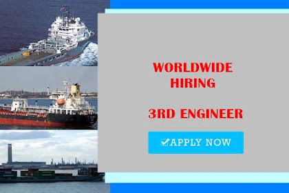 3rd Engineer 2x For Product Tanker Join Sept 2021