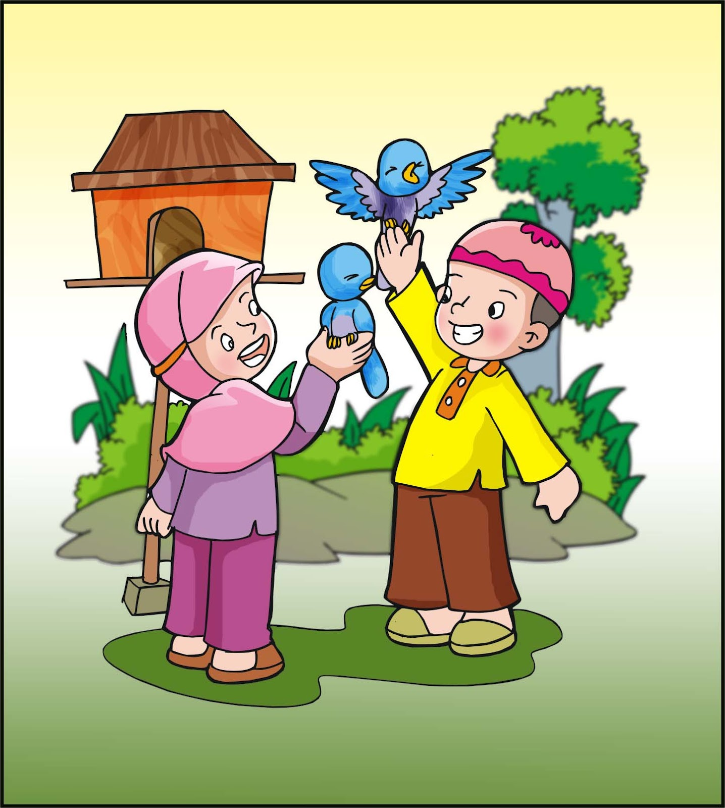 Contoh Gambar Ilustrasi Cerita Anak - Contoh O