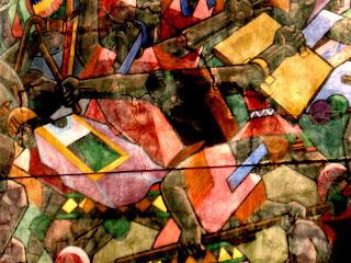 Escena de enfrentamiento, de la guerra de los Incas contra Chancas