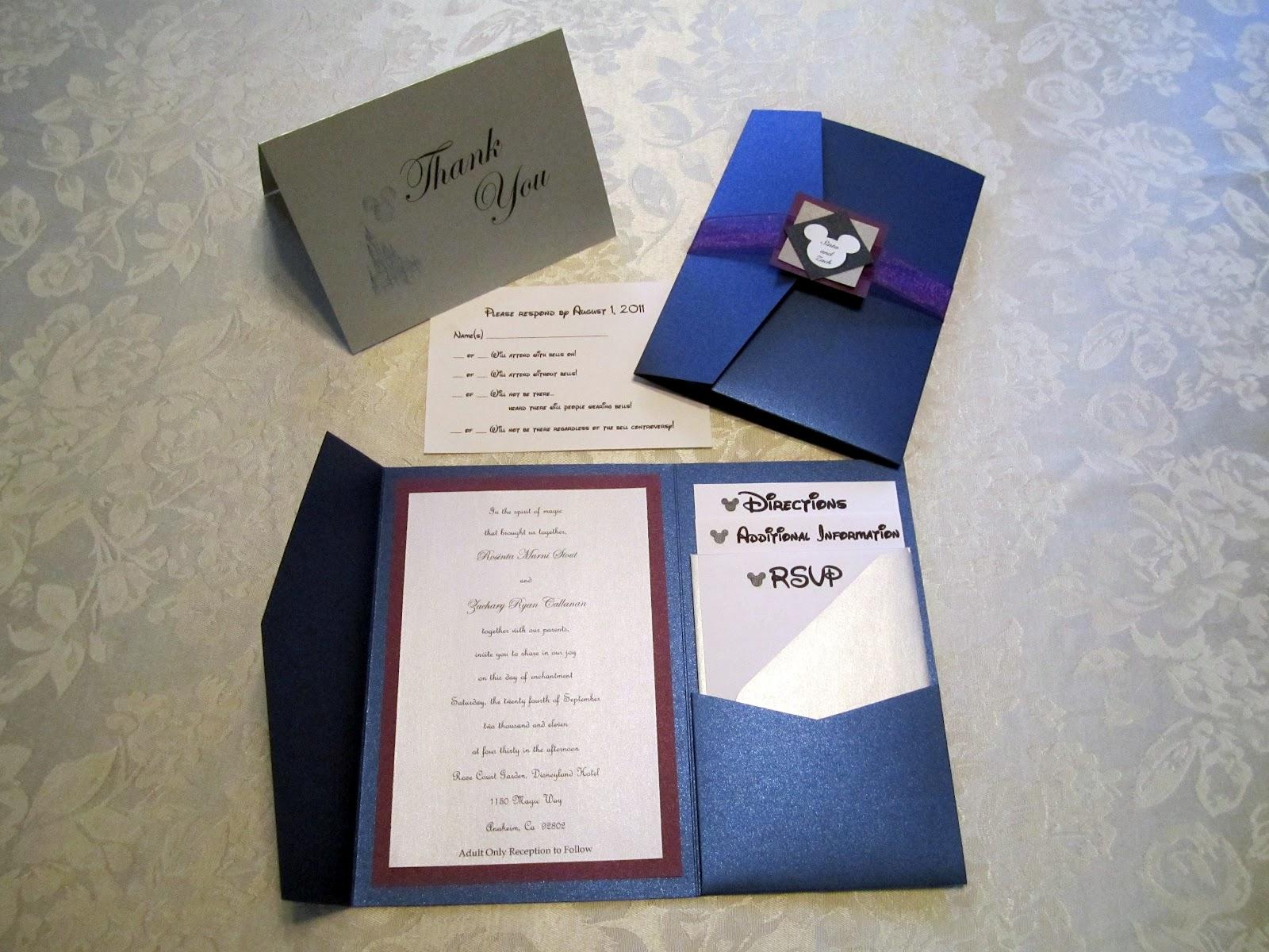 Wedding Invitations Disney: Mickey Inspired Details At A Disneyland Wedding