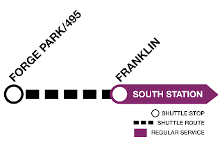 Shuttle buses replace Franklin Line service between Franklin and Forge Park/495