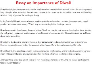 essay on importance of diwali