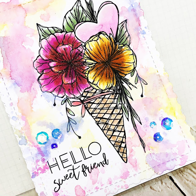ScrappyScrappy - Flowers & Coffee with Unity Stamp #scrappyscrappy #unitystampco #quicktipvideo #youtube #card #cardmaking #stamp #stamping  #timholtz #distressoxide #watercolor #floral #sequins #gracielliedesign #copicmarkers #spectrumnoir #inksmooshing