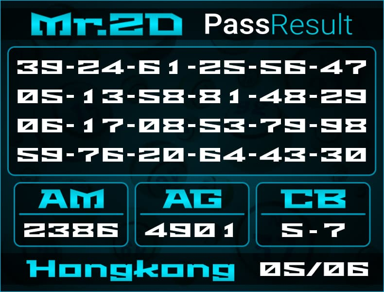Mr.2D - Bocoran Togel Hongkong