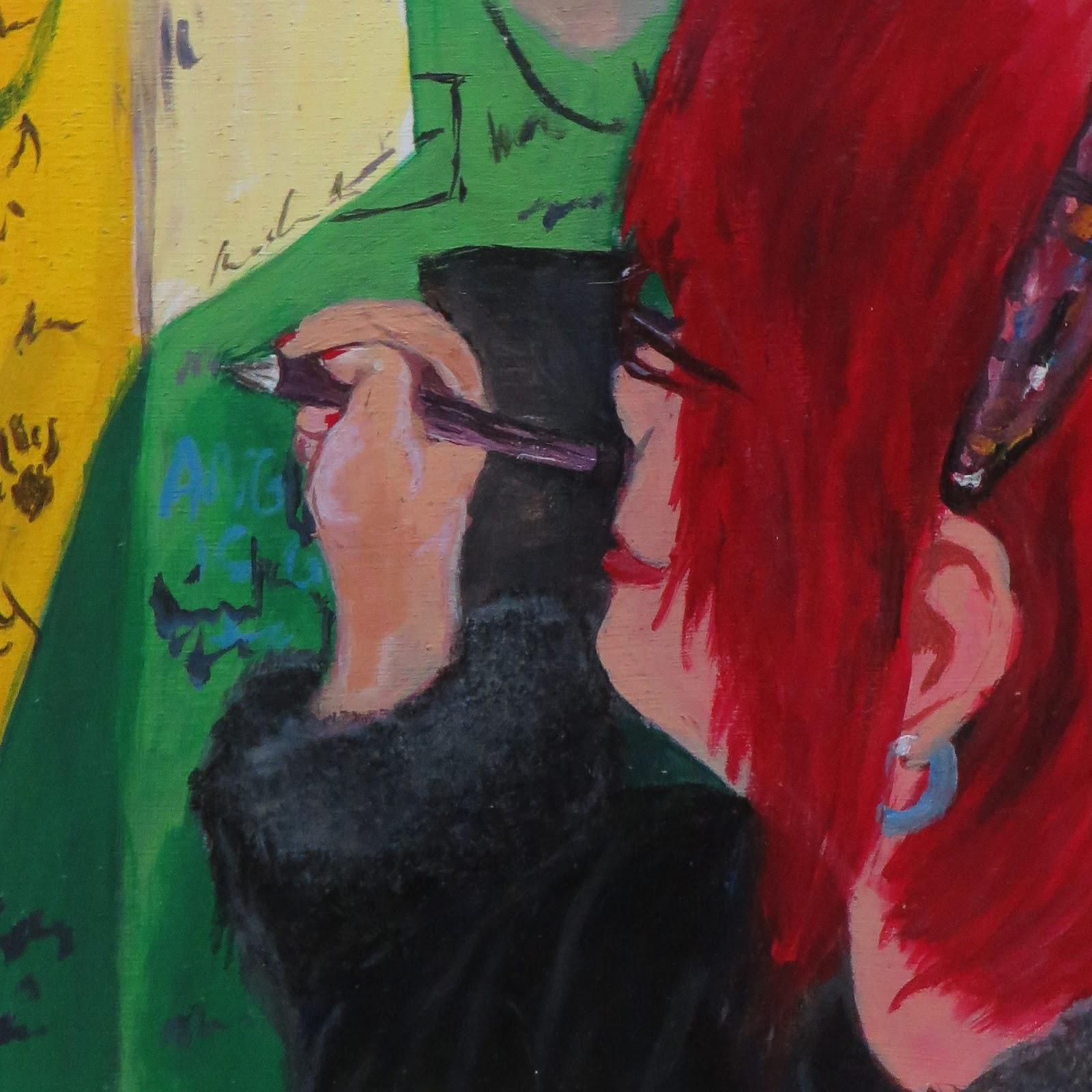 Self-Portrait: Bathroom Graffitti