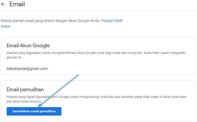 Cara Menambahkan atau Mengubah Alamat Email Pemulihan Gmail