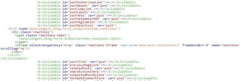 Cách thêm lại reactions mặc định của Blogger tăng sự phản hồi từ người đọc