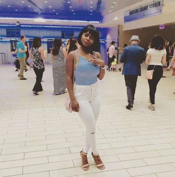 Karen Igho looks chic as she makes first public appearance in a while