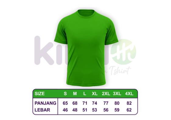 Size Chart Ukuran Kaos Polos Pangkajene Kepulauan - Kindo Indonesia