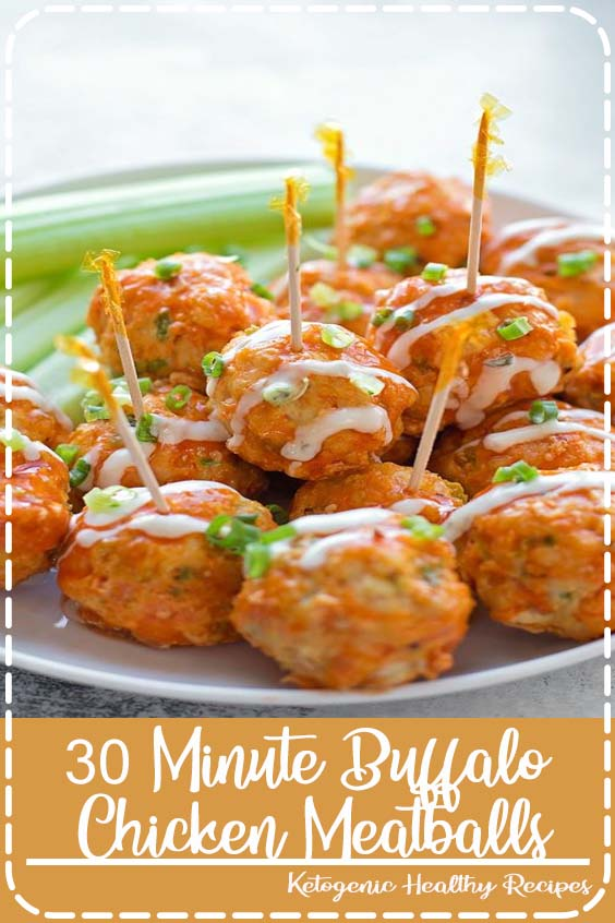 re a whole lot healthier than the traditional appetizer 30 Minute Buffalo Chicken Meatballs