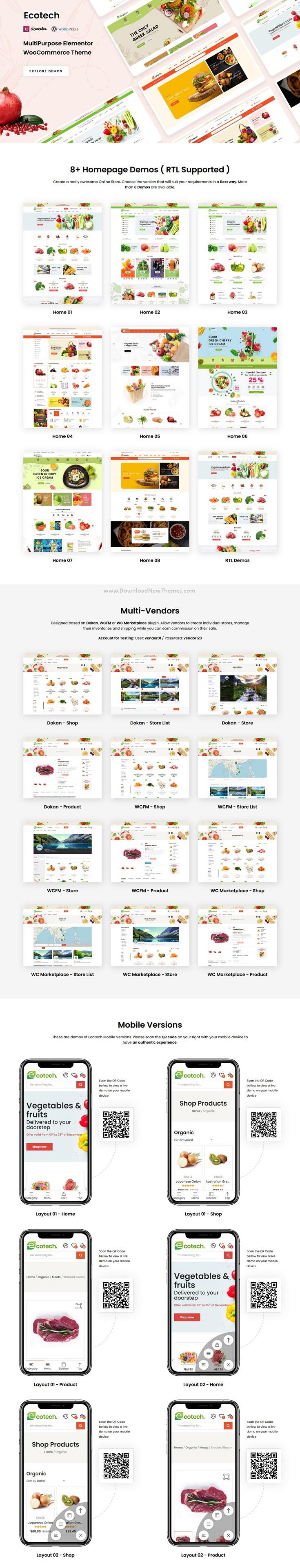 Organic, Food, Multipurpose WooCommerce Theme