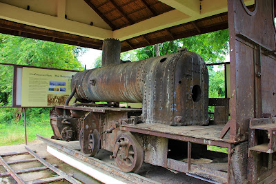 Remains of French railway in 4000 Mekong Islands (Si Phan Don, Laos)