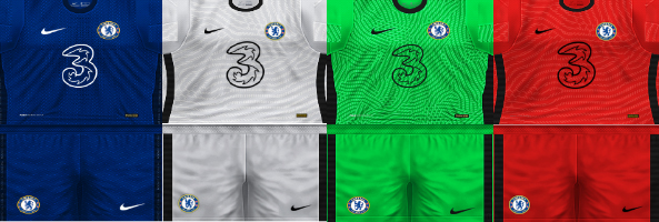 Update Kits Chelsea PES 6 Home, Away and Third 2020-2021