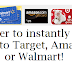 $25 Target™, Amazon.com®, Walmart® Gift Card Instant Win