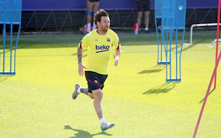 Barcelona Captain Messi finally returns to group training