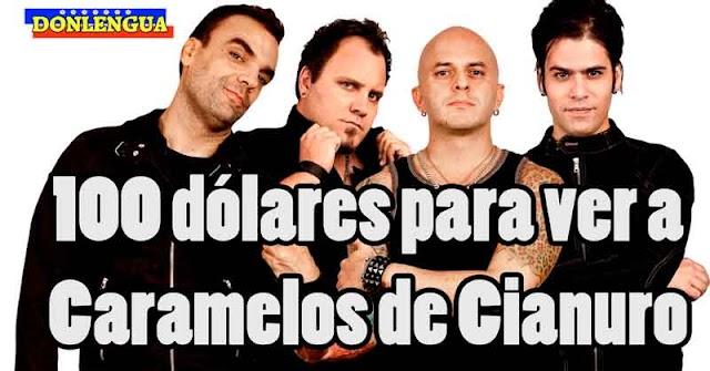 NA GUARÁ | Caramelos de Cianuro dan concierto en Caracas con entradas a 100 dólares