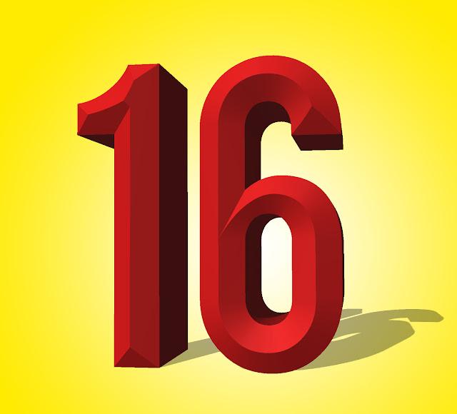 Number Sixteen 3D