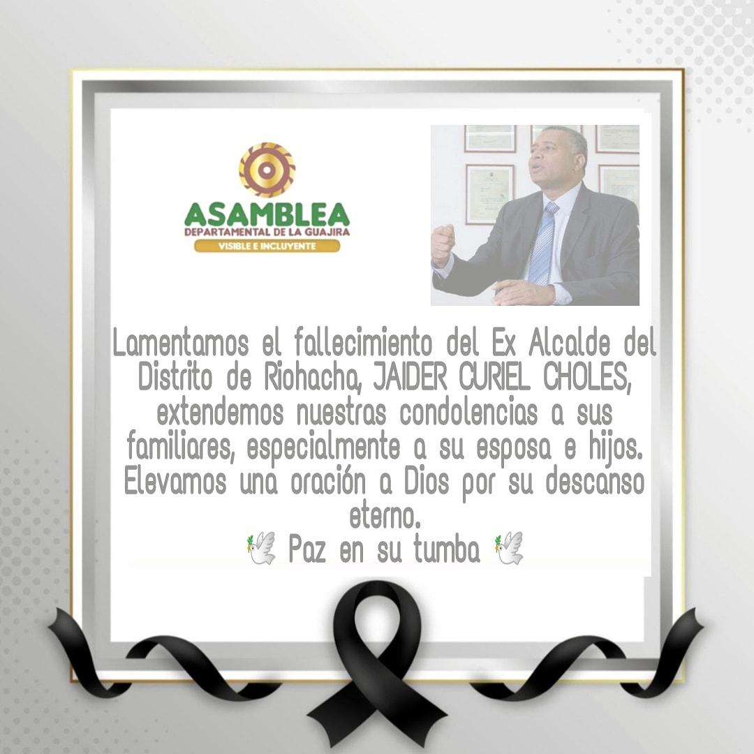https://www.notasrosas.com/Riohacha llora la partida de su ex alcalde, Jaider Antonio Curiel Choles