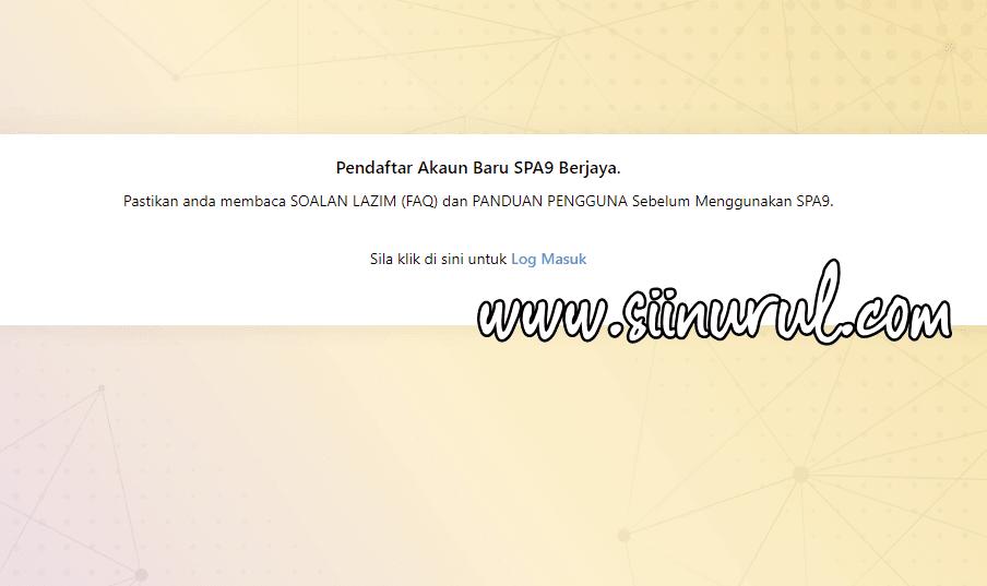 Pendaftaran Pengguna Baru SPA9