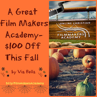 A Great Film Makers Academy-- $100 Off this Fall, TOS Crew, Homeschool review, film academy, via bella, #hsreviews #christianfilmcamp and #onlinefilmcamp  SEO Keywords:  Christian Filmmaking, Christian Filmmakers Camp, Online Film Camp, Online Film School, film school, Christian film, Christian Filmmakers Academy, online film academy