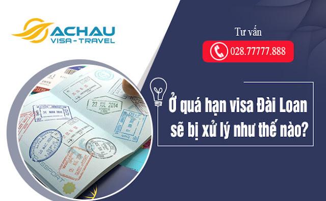 Ở quá hạn visa Đài Loan sẽ bị xử lý như thế nào?