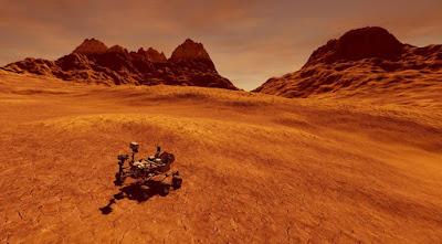 Il rover di curiosità su Marte cerca acqua.