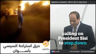 Rakyat Mesir Turun ke Jalan Tuntut Presiden As-Sisi Mundur, Kediaman Presiden Dibakar Massa