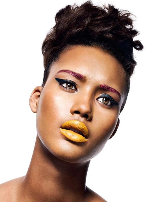 yellow lipstick on dark skin - photo #13
