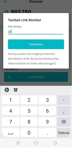 Cara Set Link Member Aplikasi Raja Pulsa