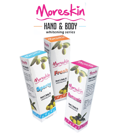 MORESKIN Hand & Body Oil Whitening Series