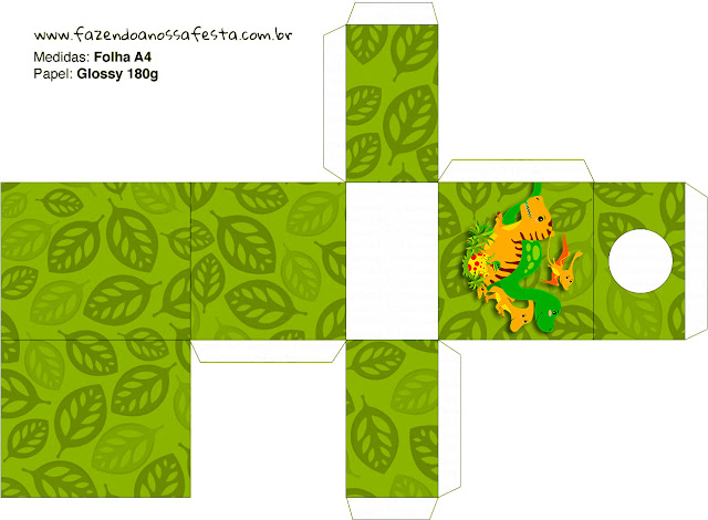 Cajas de Fiesta de Dinosaurios para imprimir gratis.