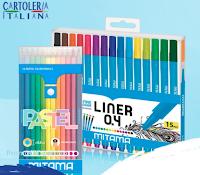 Cartoleria Italiana #5minutidigioia : vinci gratis box Mitama di 15 Penne Liner Extra-fine + set di pastelli colorati.